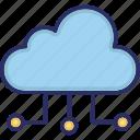 cloud, cloud computing, sharing, traffic icon