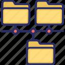 folder, plurality, shared folders, variety icon