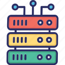 cell, data center, database, server, size, volumes icon