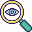 audit, navigate, search icon