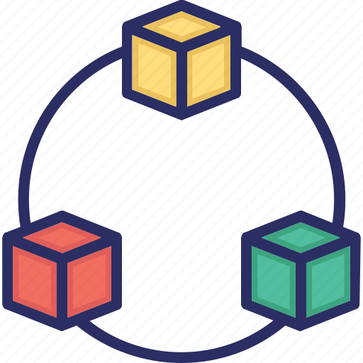 cdn, cycle, network, scalable icon
