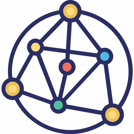 complexity, connection, massive, network icon