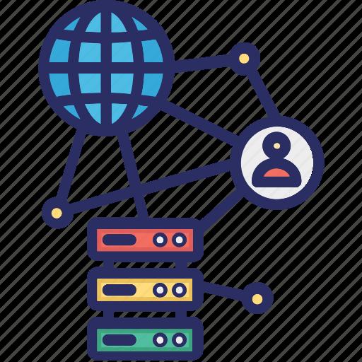 big data, complexity, network, profile data icon