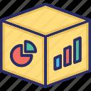 analytics, bar chart, olap, pie chart icon