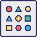 patterns, unstructured, variability, variety icon