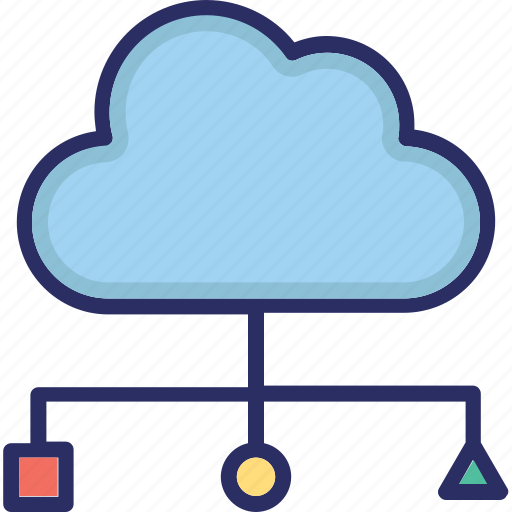big data, cloud, cloud storage, variety icon