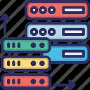 cell, data center, server icon
