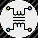 circuit, electric circuit, resistor, science, voltage icon icon
