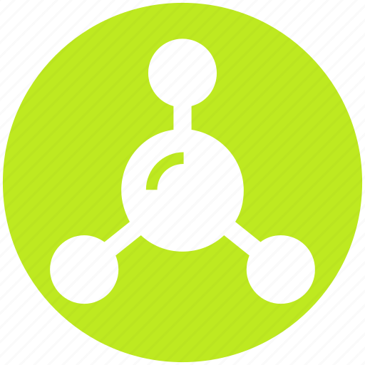 Atom, atom bond, electron, molecular, science icon - Download on Iconfinder