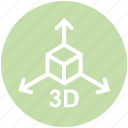 3d, arrows, box, education, formula, math, science icon