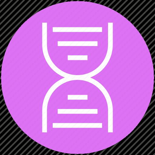 Dna, chain, science, molecule, helix, genetics, strand icon