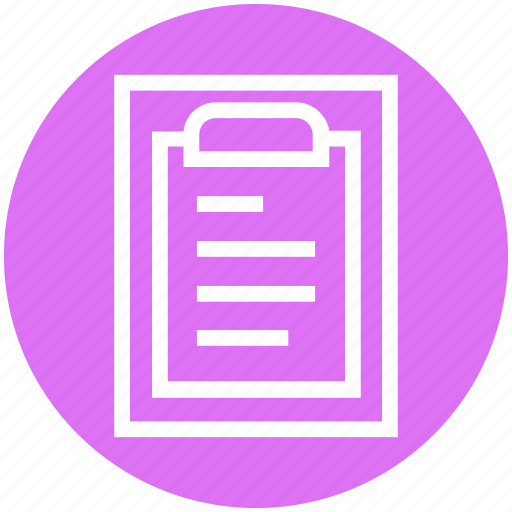 Article, clipboard, file, list, molecule, notes, science article icon - Download on Iconfinder