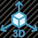 3d, arrows, box, education, formula, math, science