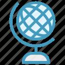 desk globe, education, globe, map, science, table globe, world map icon