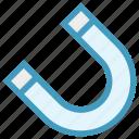 attraction, horseshoe, horseshoe magnet, magnet, physics, science, u shaped icon
