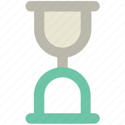 clock, egg timer, hourglass, sand glass, sand of time, sand timer, timer icon