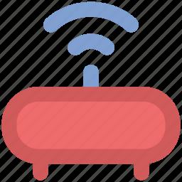 internet, modem, router, signals, technology, wifi, wireless internet icon