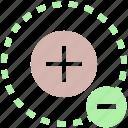 cell, circle, math, minus, molecule, plus, science