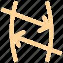 arrows, chemistry, formula, math, physics, science icon