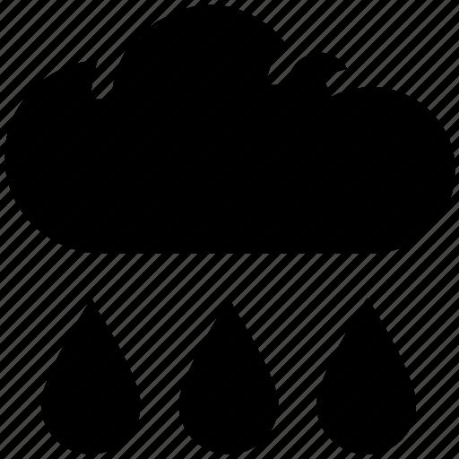 cloud, drops, rain, rain drops, raining, sky, weather icon