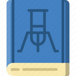 book, chemistry, laboratory, research, science icon