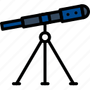 science, research, telescope, laboratory icon