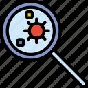 science, research, bacteria, laboratory icon