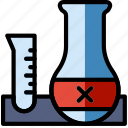 science, research, tubes, laboratory icon
