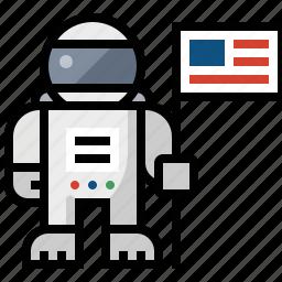 astronaut, cosmonaut, science icon