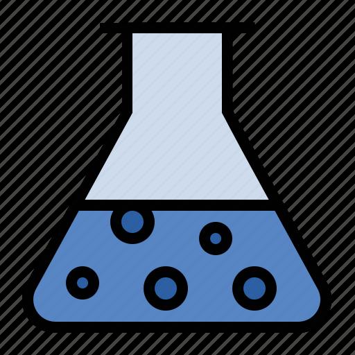 beaker, mixture, science, solution icon