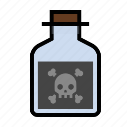 bottle, poison, science icon