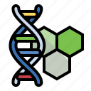 cell, dna, helix, science icon