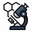 cell, microscope, science icon