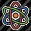 atom, molecule, nuclear, science icon