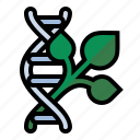 dna, gmo, plant, science icon