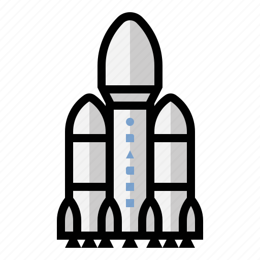 falcon, heavy, rocket, science, spacex icon