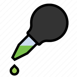 dropper, science, syphon icon