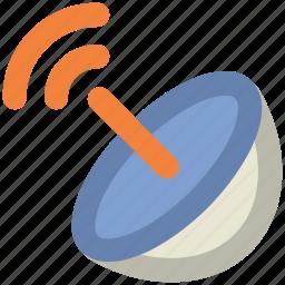 dish antenna, parabolic antenna, radar, satellite dish, space communication, sputnik antenna, technology icon