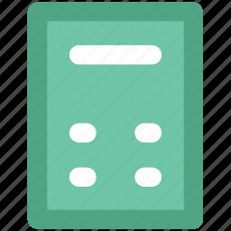 accounting, adding machine, calc, calculating machine, calculation, calculator, digital calculator icon