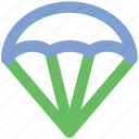 air balloon, hot air balloon, parachute, parachute balloon, skydiving icon