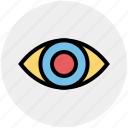 biology, eye, eyeball, lab, science, search, vision icon