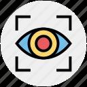 analysis, eye, eye focus, monitoring, target, vision icon