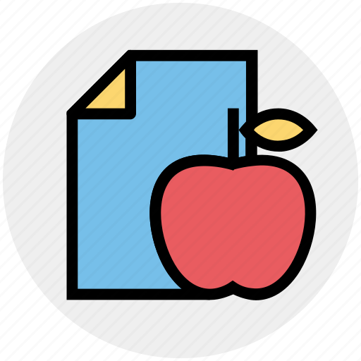 Apple, diet, food, fruit, healthy fruit, page, paper icon - Download on Iconfinder