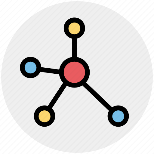 Atom, atom bond, electron, molecular, science icon - Download on Iconfinder
