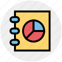 book, chart, content, graph, reading, science icon