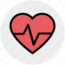 beat, gesture, hand, healthcare, heart, medical, science icon