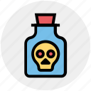 bottle, deadly, poison, potion, skull, toxic, weaponry
