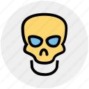 danger, death, halloween, head, science, skeleton, skull