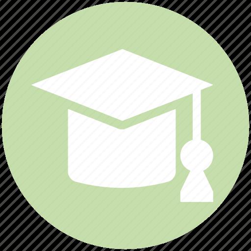 cap, degree, education, graduate, graduation, hat, science icon