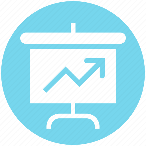Arrow, board, chart, diagram, presentation, statistic, up icon - Download on Iconfinder